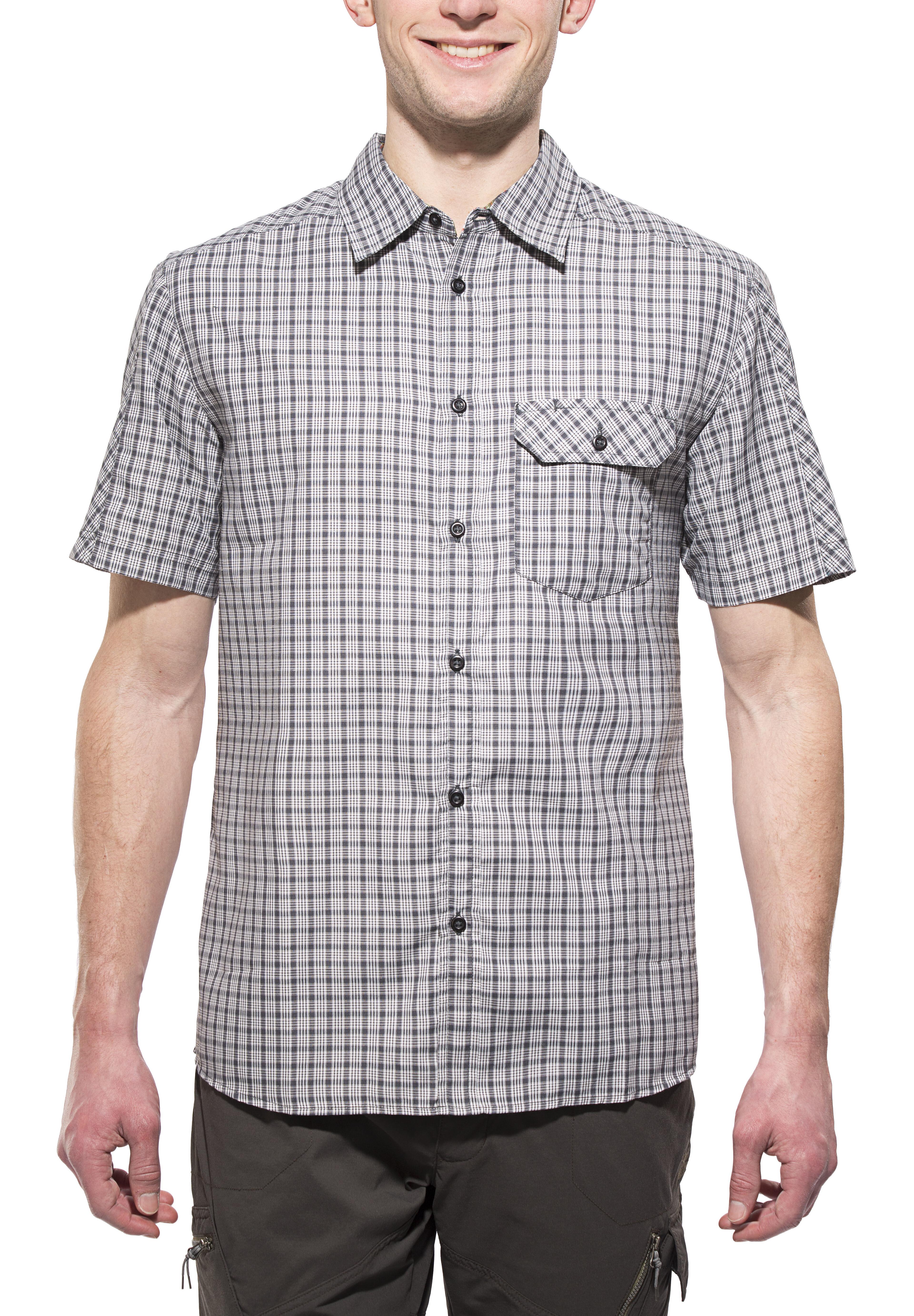 Korte Mouw Overhemd Mannen.Axant Alps Overhemd Korte Mouw Heren Grijs L Online Outdoor Shop